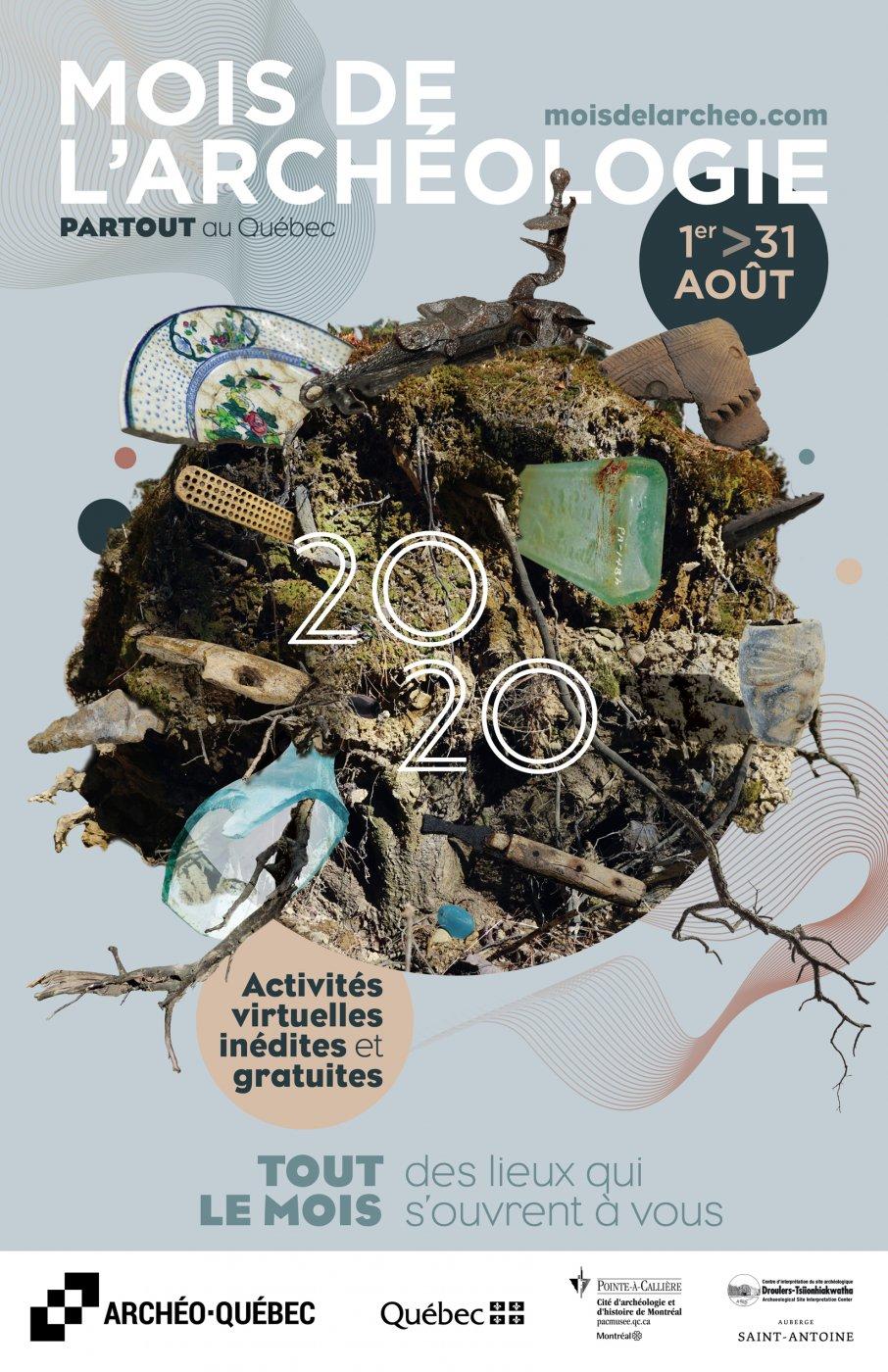 Affiche du Mois de l'archéologie 2020