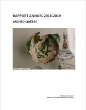 Page couverture du rapport annuel 2018-2019